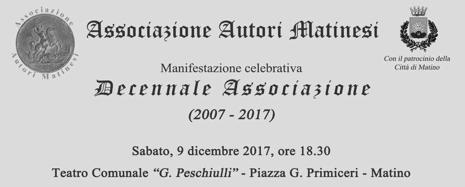 Decennale Associazione Autori Matinesi